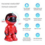 Wireless ip camera p2p 1080P Robot 2.0MP Security Camera Night Vision Alarm Audio Baby Monitor Pan Tilt Remote Home Security P2P IR Night Vision for Mobile Android/IOS and Laptop (Red)