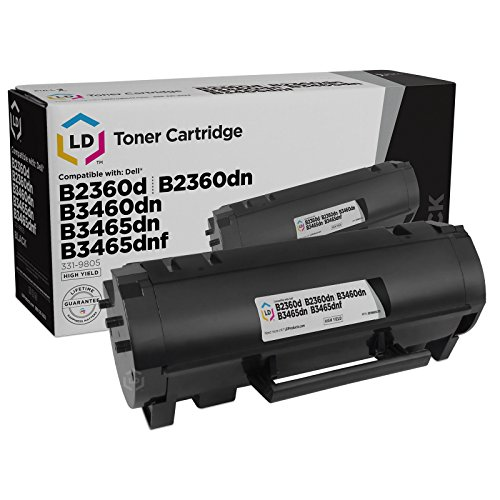 LD Compatible Toner Cartridge Replacement for Dell 331-9805 M11XH High Yield (Black)