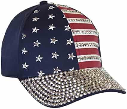 2993a424fbf USA Bling Baseball Cap