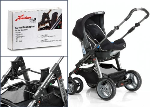 Hartan Adapter Römer Babysafe plus SHR, Babysafe Sleeper zu R1,Racer,Skater,Topline S,Topline X, ZXI