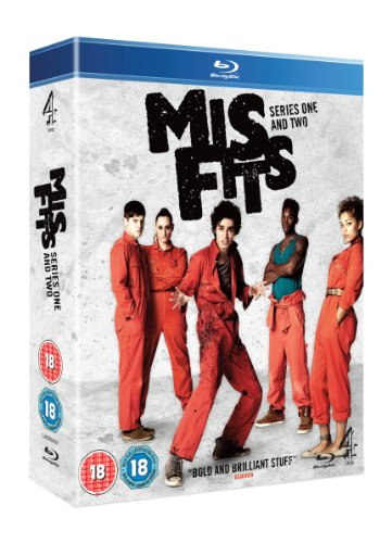 Misfits - Series 1 & 2 - 3-Disc Box Set ( Mis fits - Series One & Two ) [ NON-USA FORMAT, Blu-Ray, Reg.B Import - United Kingdom ]