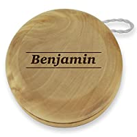 Dimension 9 Benjamin Classic Wood Yoyo with Laser Engraving