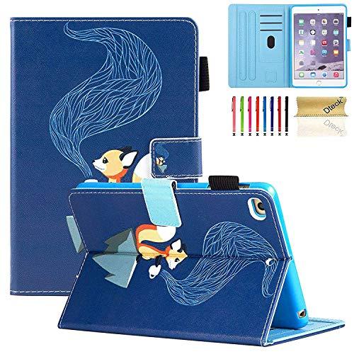 (Dteck iPad Mini 4/3/2/1 Case - Slim Fit Premium PU Leather Folio Stand Wallet Magnetic Cover with Auto Sleep/Wake Smart for Apple iPad Mini 2/Mini 3/Mini 4, Squirrel)