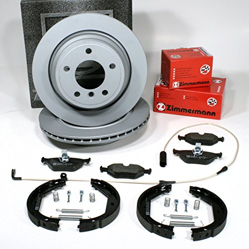 Zimmermann Brake DISCS Ventilated Coat Z/with Brake Rear Cables + Brake shoes + Accessories Alarm/Rear Axle: