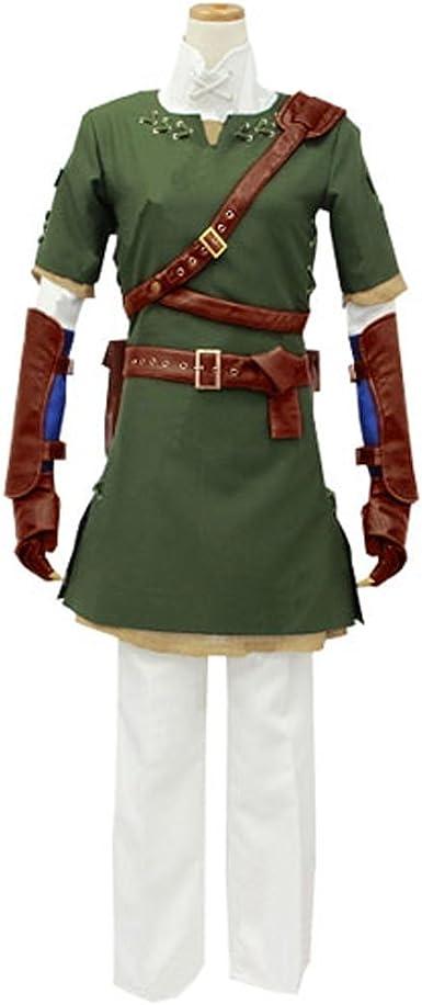 cuterole Hombres Adultos la Leyenda de Zelda Link verde Cosplay ...