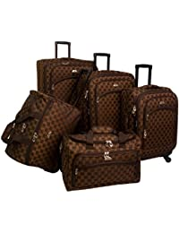 Luggage Madrid 5 Piece Spinner Set, Brown, One Size