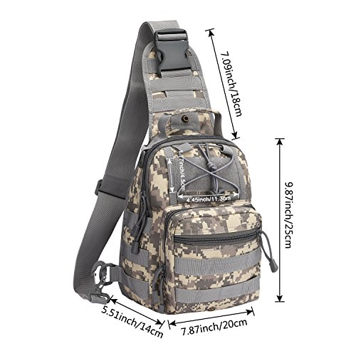 G4Free Outdoor Tactical Bag Backpack, Military Sport Bag Pack Sling Shoulder Backpack Tactical Satchel for Every Day Carry
