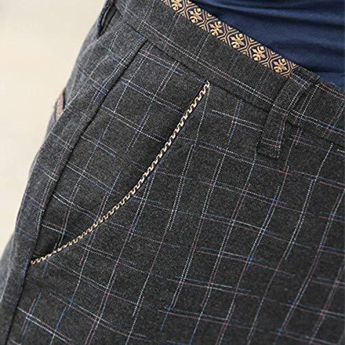 Coupe Pour Battercake Hommes Travail Stretch Couleur Costume Schwarz Slim Confortable Jean En Unie À De Pantalon Loisirs Carreaux Décontracté wHYIxXH