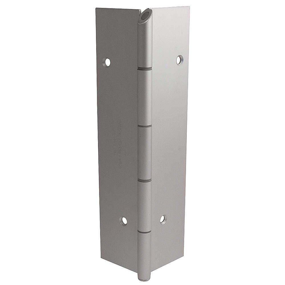 Markar - FM200-002-600-HT-MP - 180 Continuous Hinge With Holes, Gray Enamel Finish, 96 x 2-1/4