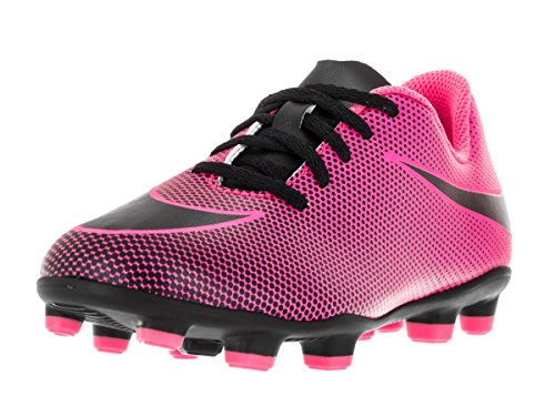 NIKE Kids Jr Bravata II FG Soccer Cleat (10 M US Little Kid, Pink - Pink Girls Cleats Soccer