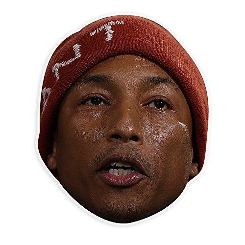 Angry Pharrell Mask - Perfect for Halloween, Masquerade, Parties, Events, Festivals, Concerts - Jumbo Size Waterproof