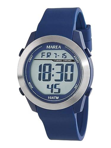 Reloj Marea Digital Hombre B35294/2 Correa Caucho Azul: Amazon.es: Relojes