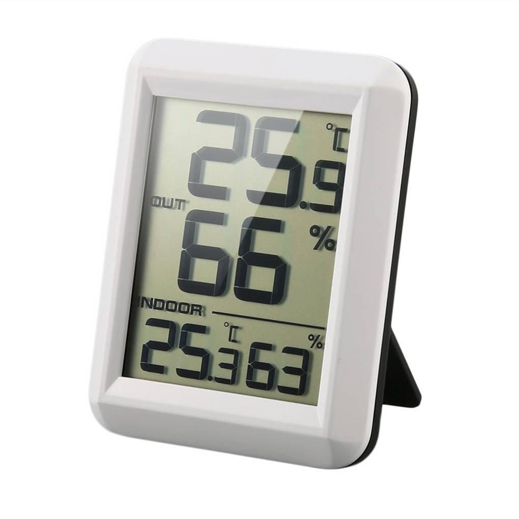 Thermomètre sans fil numérique LCD hygromètre avec Transmetteur de température Humidité Test compteur Station Météo intérieur Regard Regard Natral