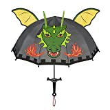 Kidorable Dragon Knight, Grey, One Size for Toddlers and Big Kids, Lightweight Child-Sized Nylon Rain Proof Umbrella