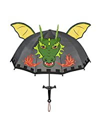 Kidorable Little Boys Grey Dragon Knight Umbrella, Gray, One Size