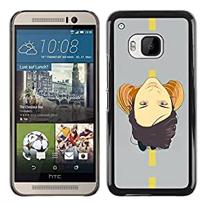LECELL -- Funda protectora / Cubierta / Piel For HTC One M9 -- Face On Road --