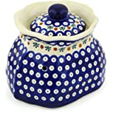 Polish Pottery Garlic and Onion Jar 9-inch Mosquito