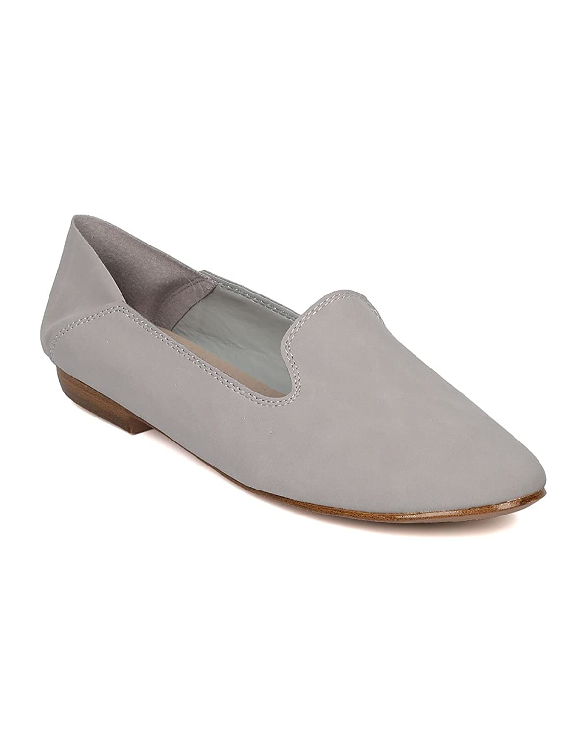 Women Nubuck Slip on Loafer - Casual Office Everyday on The Go - Slip on Flat - GH12 by