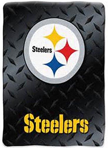 The Northwest Company NFL Pittsburgh Steelers 60 inch x 80 inch Soft Raschel Throw Blanket
