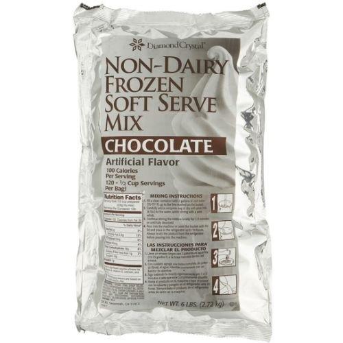 Chefs Companion Chocolate Non Dairy Soft Serve Mix, 6 Pound -- 6 per case.