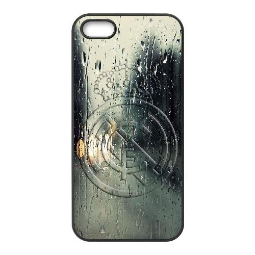 X8M11 Real Madrid M7E5JI coque iPhone 5 5s cellule de cas de téléphone couvercle coque noire KK8OMJ0CY