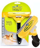 CitySales FURminator Professional PET Products DeShedding Tool Brush For Long Hair Large Size Dogs 50-90lbs