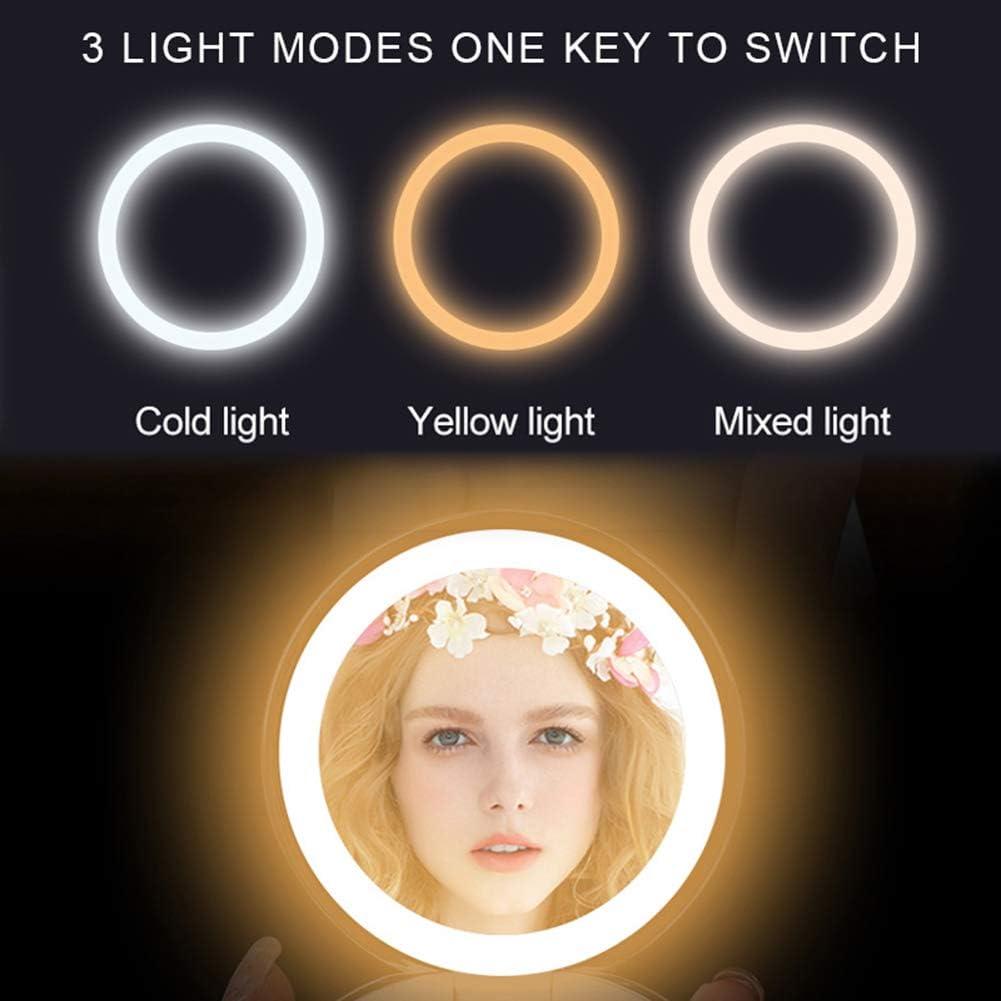 Travel Selfie Light Supplementary Ring Light for Tiktok YouTube Photography Vlog USB Plug URAURORA Portable Makeup Mirror B