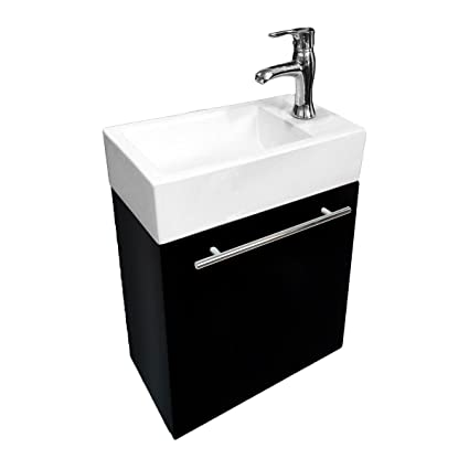 Delicieux Renovatoru0027s Supply Small Wall Mount Bathroom Vanity Cabinet Sink With  Faucet, Drain And Towel Bar