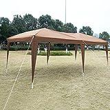 Cafe 10'X20' EZ POP UP Gazebo Wedding Party Tent Folding Canopy Carry Bag Cross-Ba