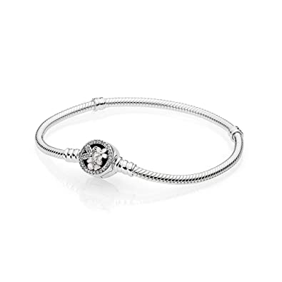36db8f65d Amazon.com: Pandora Moments Multicolored Bracelet with Poetic Blooms Clasp  590744CZ17: Jewelry