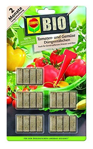 Compo 10725 Bio Tomaten und Gemüse Düngestäbchen, 20 Stäbchen