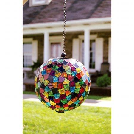 Carson Home Accents 65695 Mosaic Solar Orb - Multicolor