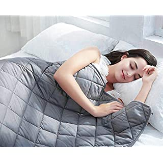 "BarryLLL Cool Weighted Blanket (15lbs 48"" x 72"",) 