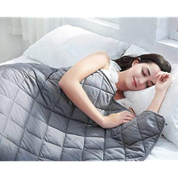 Image of BarryLLL Weighted Blanket (15lbs 48' x 72',) | Grey | Twin Size | Calm Sleeping for for Adults and Kids | Comfortable Fabric | Premium Glass Bead | 100% Cotton BarryLLL B07QSDBFHQ Weighted Blankets