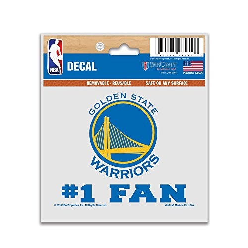 - WinCraft NBA Golden State Warriors 12284010 Multi-Use Decal, 3