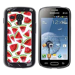 Pulsar Snap-on Series Teléfono Carcasa Funda Case Caso para Samsung Galaxy S Duos S7562 , Aquarelle Blanc
