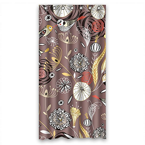 Monadicase Flower Polyester Christmas Shower Curtains Width X Height / 36 X 72 Inches / W H 90 By 180 Cm For Lover,valentine,couples,father,gf. Modern Design. Fabric Material