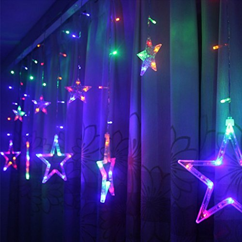 small lighting. Excelvan Safe 138 LEDs 2m66ft Star Curtain String Light 6 Big Small Waterproof Used For Wedding Christmas Parties Festival Decorations Lighting