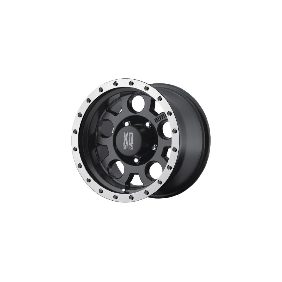 KMC XD Series XD 125 (20 x 9, 8 x 165.1/6.5) 0 Offset, Matte Blk WithMachined Bead Ring, (1) Wheel/Rim Automotive