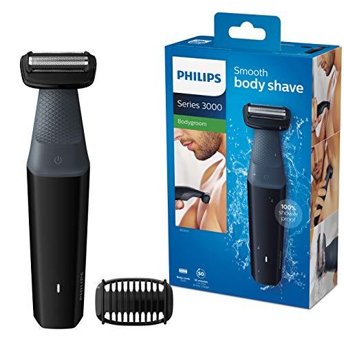 🥇 Philips  BG3010/15 Serie 3000 – Afeitadora Corporal Apta para la Ducha con 1 Peines-Guia