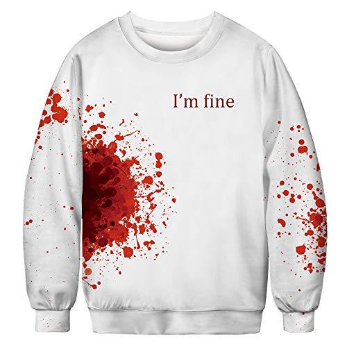 DaySeventh Loves' Casual Autumn Winter 3D Printing Long Sleeve Top Sweatshirt - The Xo Weeknd Blanket