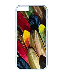 VUTTOO Iphone 6 Case, Colorful Parrot Feathers PC Case Cover for Apple iPhone 6 4.7 Inch White