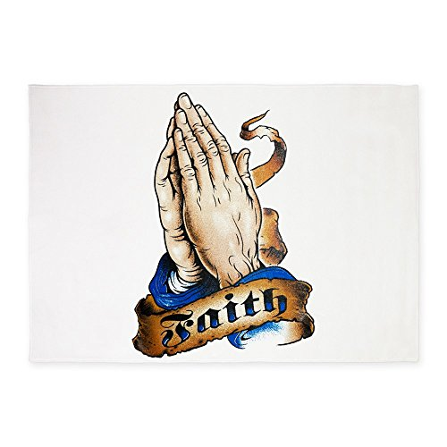 5' x 7' Area Rug Faith Religious Praying Hands by Royal Lion