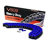 520 x 96 Links Heavy Duty Non Oring Motorcycle Chain - Blue