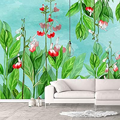 Elegant Work of Art, Made For You, Wall Murals for Bedroom Green Plants Animals Removable Wallpaper Peel and Stick Wall Stickers