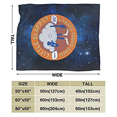 Jocasa Trolls Cloud Guy High Five Blanket Flannel Fleece Throw Lightweight Cozy Couch Bed Soft and Warm Plush Quilt for Thanksgiving, Halloween, 60