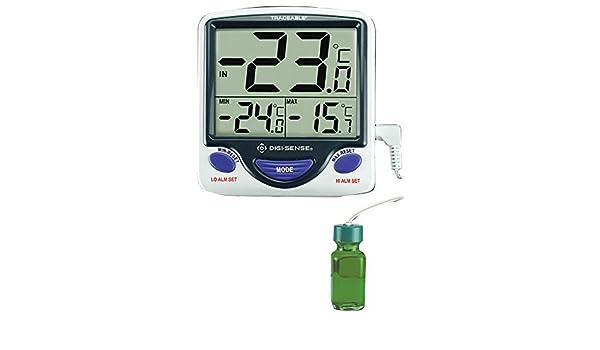 digi-sense calibrado Jumbo botella de frigorífico/congelador termómetro Digital, sonda: Amazon.es: Amazon.es
