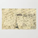 Society6 Parisian French Script Rug 2' x 3'