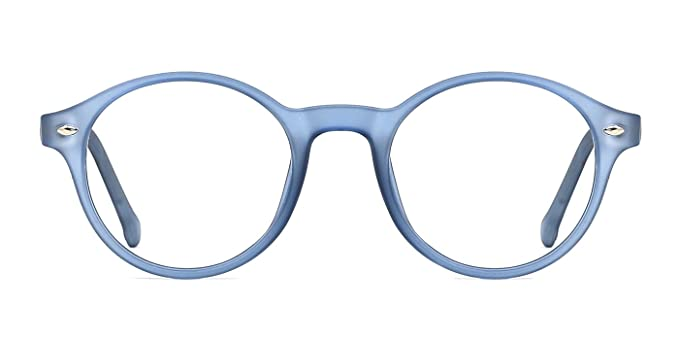 TIJN Herren Damen Retro Runde Brille Ohne Stärke Klare Linse Brillenfassung Rot yacfZmyRP