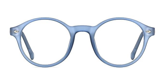 TIJN Donna Uomo Nerd Rotondi Montatura Occhiali da Vista in Metallo con Lente 2gCecIYry